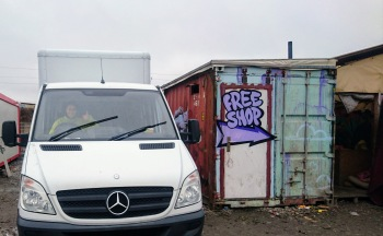 RCK Freeshop van (behind the wheel)